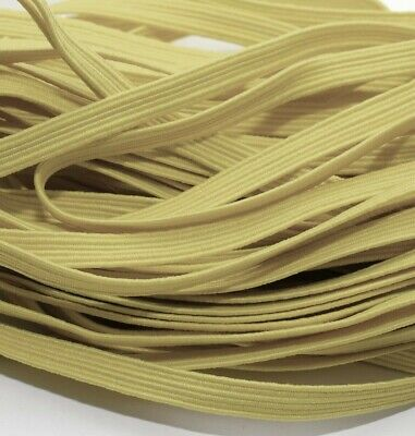$ CDN2.59 • Buy One Metre Of Soft, Stretchy, Flat Elastic, Pale Yellow Colour, 6 Mm Wide