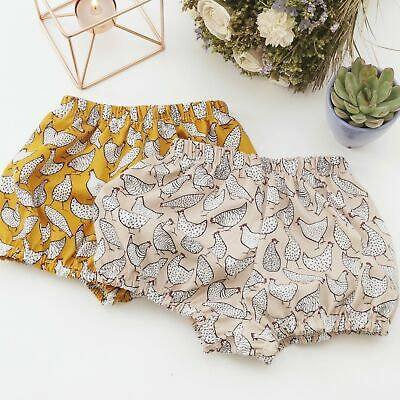 Handmade Chicken Print Baby Bloomers - Nappy Cover Bloomer • 7.19£