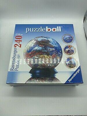 $30 • Buy Ravensburger Dolphins Ocean World Puzzleball 240 Pieces, 3D Round- New In Box