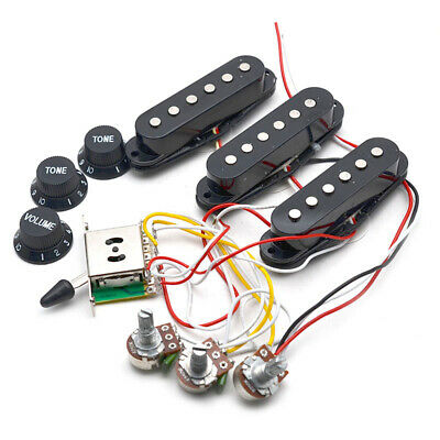 $ CDN21.08 • Buy Strat Electric Guitar Pickups Wiring Harness Prewired 5-Way Switch 2T1V Pickups
