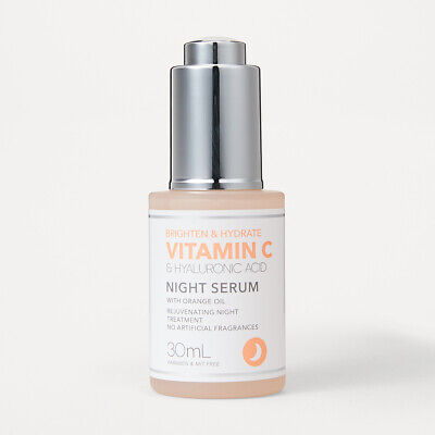 AU16.95 • Buy VITAMIN C & HYALURONIC ACID Night Serum With Orange Oil 30ml Brighten & Hydrate