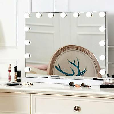 Vanity Mirror 15 LED Light Makeup Cosmetic Bathroom With  Dimmable Lights • 89.99£