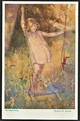 MARGARET TARRANT Postcard  My Fairy Swing  • 4.95£