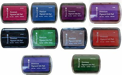 10 X DOVECRAFT PIGMENT INK PADS Set Of Different Colours - UK Seller • 13.95£
