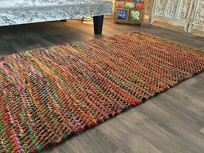 £24 • Buy Second Nature Online Jaskhar Multicolour Thick Rug Small Medium Large Runner Rug