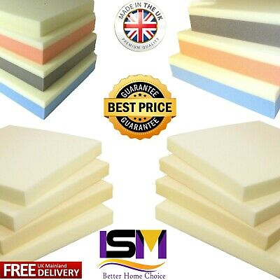 £8.99 • Buy Memory Foam Cut To Size Seat Pad Floor Cushions Sofa Chair Dog Topper All Sizes