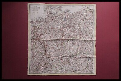Original Wwii Royal Air Force Pilots Silk Escape Map, Germany, D-day 1944 • 285.95£
