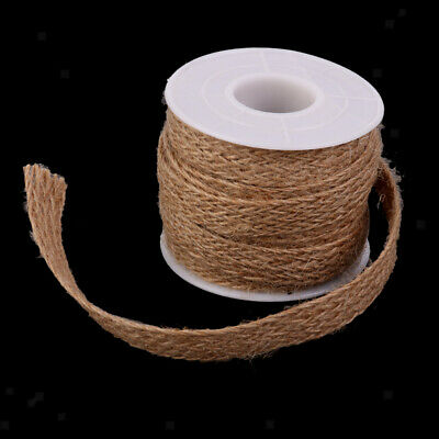 Vintage Hessian Burlap Rope String Ribbon For Jute Wedding Craft Decor 5M • 3.85£