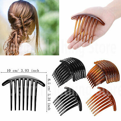 $7.45 • Buy 6 Pcs Women 7 Tooth French Twist Comb Plastic Hair Clip Hair Side Combs Hair Lot