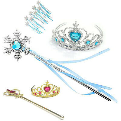 Princess Girls Cinderella  Bell Tiara Crown & Magic Wand Fancy Dress Accessories • 2.89£