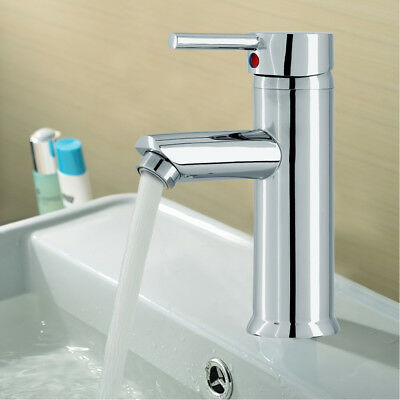 Modern Bathroom Taps Basin Sink Mono Mixer Chrome Cloakroom Tap With 2 Hoses UK • 14.59£