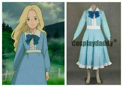 $59.32 • Buy When Marnie Was There Omoide No Marnie Blue Dress Cosplay Costume MM.36