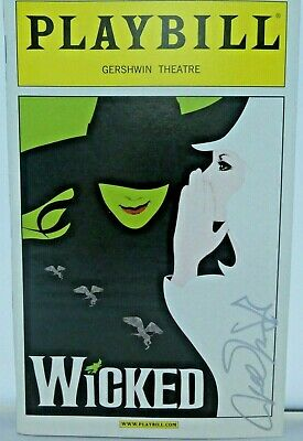 Wicked Hand Signed Autographed Playbill • 46.79£