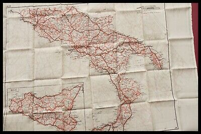 Wwii Raf Pilots Silk Escape / Evasion Map Northern And Southern Italy D-day 1944 • 295.95£