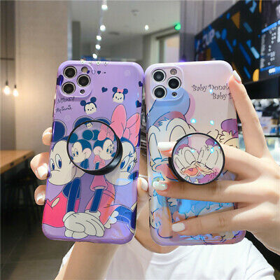 AU12.42 • Buy For IPhone 11 Pro Max XR 7 8+ Cartoon Disney Couple Stand Holder Soft Phone Case