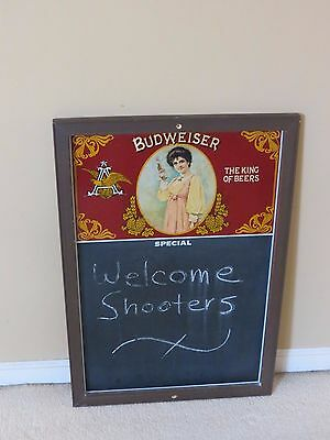 $ CDN79.03 • Buy Vintage 1978 Anheuser-Busch Budweiser Beer Chalkboard Wall Sign Mancave Decor