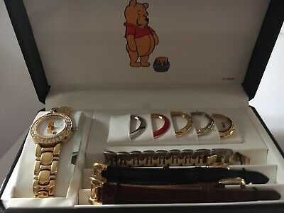 $99 • Buy Disney Winnie The Pooh Watch Interchangeable Bands And Bezels Fossil Wristwatch