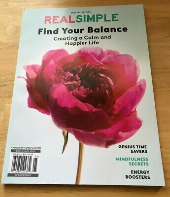 $10 • Buy Find Your Balance Real Simple Special Magazine 2019 Creating A Calm Happier Life