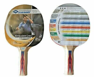 AU100 • Buy 2 New Donic Schildkrot Table Tennis Bats Fully Rubbered