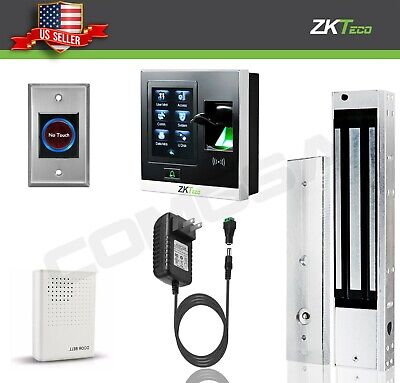 AU247.76 • Buy Kit Door Access Control System Biometric Fingerprint Zkteco, 600lb ZK X8 Entry