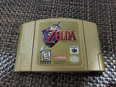 $84.95 • Buy Legend Of Zelda Ocarina Of Time N64 Gold Cartridge Tested And Working