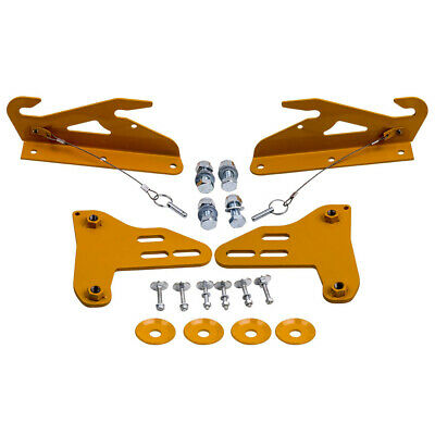 $89.88 • Buy New Quick Release Front Bumper Wind Splitter Support Brackets For Civic Integra