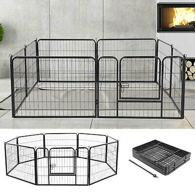£66.09 • Buy 8 Panel Foldable Pet Play Pen Puppy Dog Animal Cage Run Fence Exercise Playpen