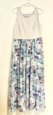 AU20 • Buy Forever New Size 14 Dress Maxi Two Section White Floral Party Wedding