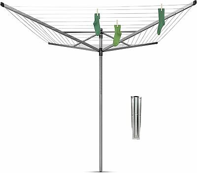 £89.99 • Buy Brabantia Lift-O-Matic Large Rotary Airer Washing Line Metal 60m +cover+spike
