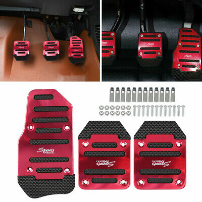 $ CDN10.90 • Buy 1 Set/3Pcs Universal Car Clutch Brake Foot Pedals Cover Treadle Non-Slip Red