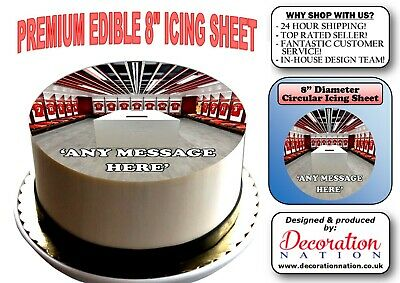Liverpool Anfield Dressing Room PERSONALISED 8 INCH ICING Edible Cake Topper Fun • 6.59£