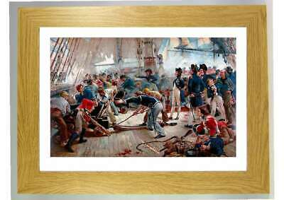 £17.75 • Buy Framed Print Picture Nelson On The Deck Of Victory During Battle Of Trafalgar