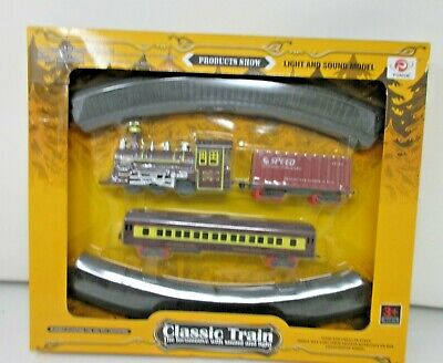 £9.99 • Buy CLASSIC TOY TRAIN SET TRACK LIGHT ENGINE BOXED -New