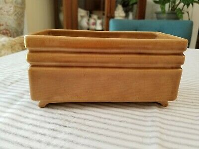 $12.99 • Buy Vintage Haeger USA Light Brown Rectangular Planter 8  X 4