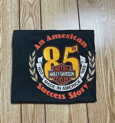 $ CDN54 • Buy Harley Davidson 1988 85th Anniversary Pocket T Shirt Vintage Single Stitch