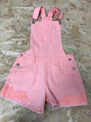 Girls Dungaree Shorts Age 12-13 Years Tammy Girls Coral D409 • 8.99£