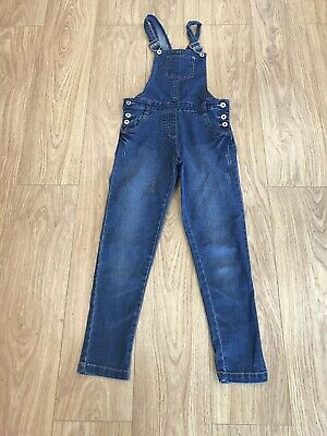 Girls Dungarees Age 10-11 Years Blue D423 • 11.99£