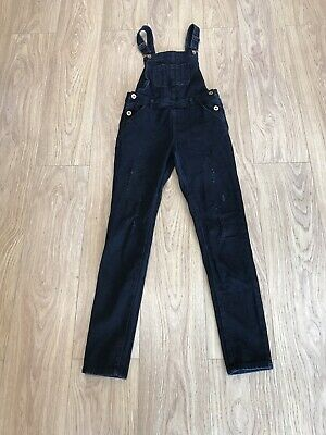 Girls Dungarees Age 11-12 Years Denim Co Black D426 • 11.99£