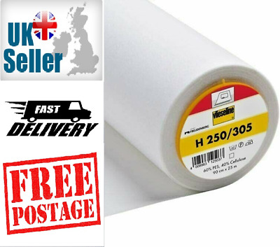 £4.60 • Buy Vlieseline Fusible Interfacing H250/305 Medium To Heavy Weight Iron On 90cm Wide
