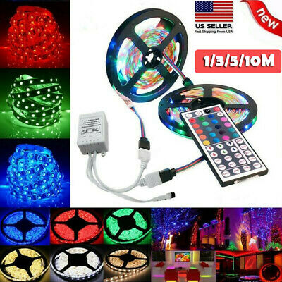 $9.89 • Buy New Flexible Strip Light RGB LED SMD Remote Fairy Lights Room TV Party Bar