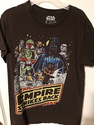$6.50 • Buy Star Wars Empire Strikes Back Multi Character Black T-Shirt Mens Size Small S