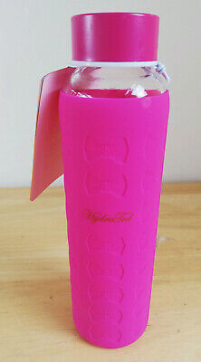 Ted Baker Glass Water Bottle With Hot Pink Silicon Sleeve 360ml • 16.99£