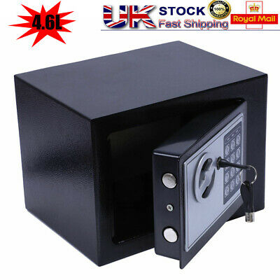 Mini Electronic Password Security Safe Money Cash Deposit Box Office Home Safety • 17.75£