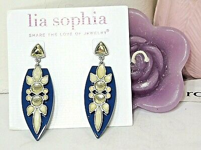 $ CDN13.37 • Buy Beautiful Lia Sophia  TRUNK SHOW  Statement Dangle Earrings, Cut Crystals, NWT