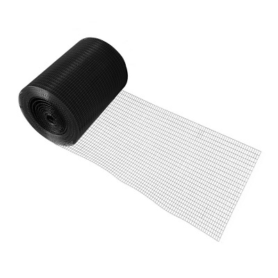 4 Ft. X 50 Ft. 16-Gauge Black Pvc Coated Welded Wire Fence With Mesh Size 1/2 In • 144.92£