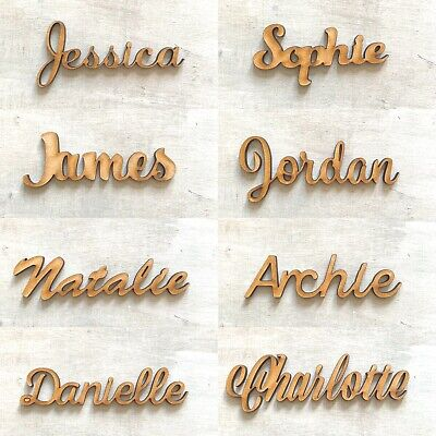 £1.80 • Buy Personalised Wooden Names Scripts Places Names Children's Names Words Plaques