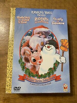 $14.49 • Buy Rankin/ Bass Christmas 3 DVD Set Holiday Classics Frosty Rudolph Santa Claus