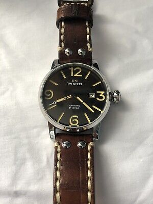 £189.99 • Buy TW Steel MS5 Maverick Mens Automatic Watch New With Box Brown Leather Strap