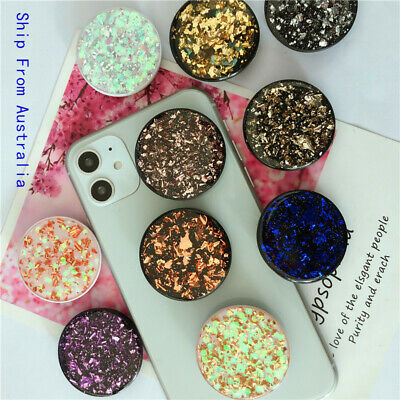 AU7.99 • Buy Universal Glitter Pop Up Socket Mount Grip Stand Mobile Phone Ring Holder IPhone