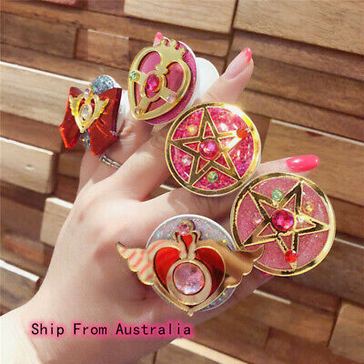 AU13.49 • Buy Anime Sailor Moon Expanding Pop Finger Grip Universal Mobile Phone Socket Holder